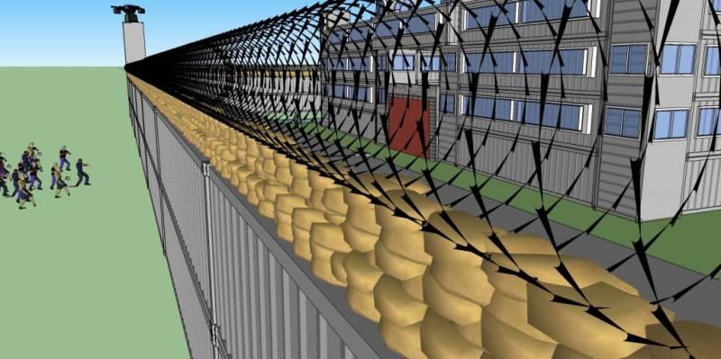 Zombie Fortress Razor Wire