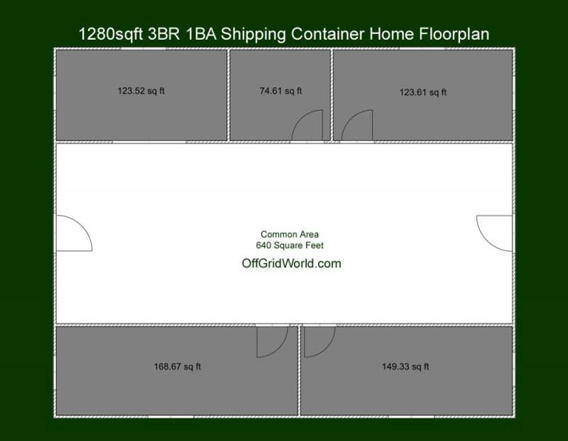 1280sqft-Floorplan 2D