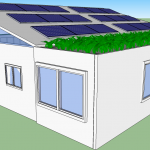 1440sqft 3BR 1BA Shipping Container Home with Living Roof & 4000 Watt Solar Power System