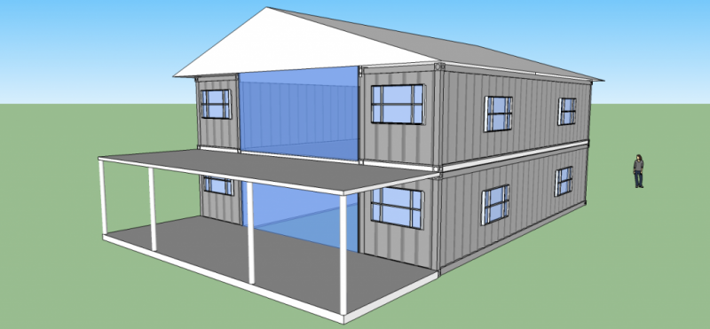 2560sqft 5BR 2BA Shipping Container Home