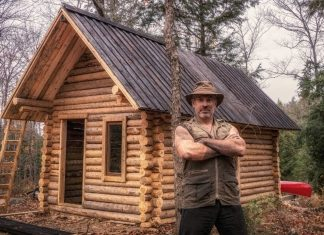 shawn james canadian off grid cabin