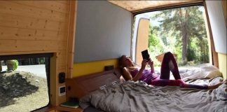 off grid camper van conversion