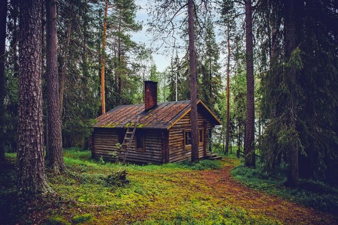 How to live off the grid log cabin