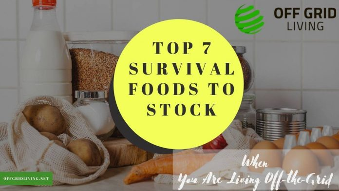 Top 7 Survival Foods to Stock - When You Are Living Off-the-Grid